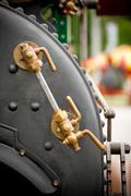 steam boiler valves - stock photo