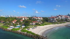 Amazing aerial video of fisher Island shot with a drone Stock Footage