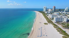 Lets hit the beach aerial video Stock Footage