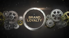 Connecting Gear wheels, and make keyword, 'BRAND LOYALTY' (included alpha) Stock Footage