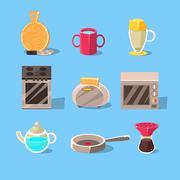Kitchen Appliances Set Stock Illustration