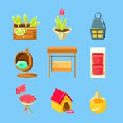 Garden Stuff Set - stock illustration