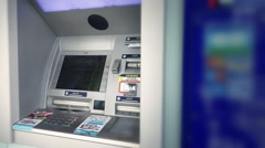Empty ATM Bank Machine Stock Footage