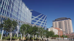 Las Vegas City Hall and the Regional Justice Center Stock Footage
