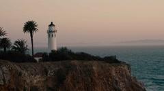 4K West Coast Light House during Sunset - stock footage