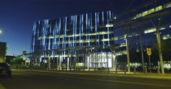 Las Vegas City Hall Illuminated at Night Stock Footage