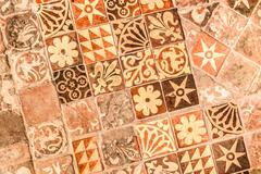 medieval tiles - stock photo