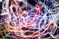 light-trail fireball - stock photo
