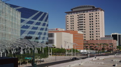 Solar Panel Trees in Front of the Las Vegas City Hall Stock Footage