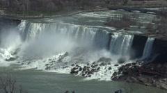 Majestic Niagara Falls, American Side Stock Footage