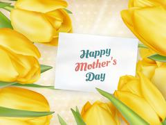 Happy Mothers Day lettering. EPS 10 Stock Illustration