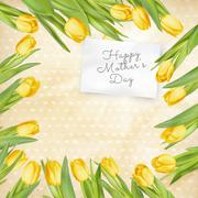 Mothers Day poster. EPS 10 - stock illustration