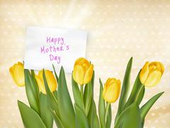 Happy Mothers day Typographical Background. EPS 10 Stock Illustration