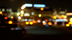 Car Lanterns out of focus Stock Footage