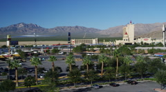 Elevated Day Shot of Primm Casinos Stock Footage