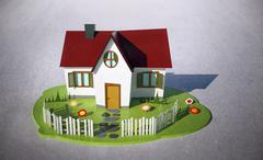 Illustrative image of house model - stock illustration