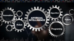 Future, Programing, Algorithm, Innovation, Robot, 'ARTIFICIAL INTELLIGENCE' - stock footage