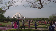 Delhi Walking to Lotus Temple 4K Stock Footage