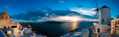 Famous beautiful Oia village on a summer morning, Santorini island, Cyclades, Stock Photos