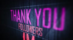 thank you followers 1 m. - stock footage