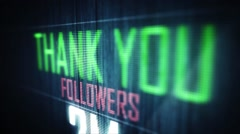 thank you followers 2 m - stock footage
