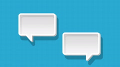 Speech bubbles animation motion graphic for presentation templete. style 1 Stock Footage