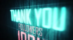thank you followers 100 k - stock footage