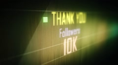 thank you followers 10 k - stock footage