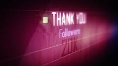 thank you followers 20 k - stock footage