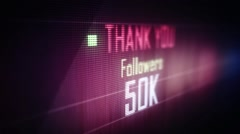 thank you followers 50 k - stock footage