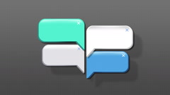 Speech bubbles animation motion graphic for presentation templete. style 5 Stock Footage