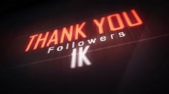 thank you followers 1 k. - stock footage