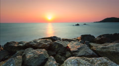 4K Timelapse Sunset, Sunrise on Ocean Beach, Sea View . Stock Footage