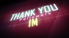 thank you followers 1 m - stock footage