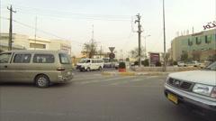 Iraqi Kurdistan Erbil traffic Stock Footage