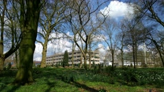 Grounds and buildings Wageningen UR campus for Agrotechnology and Food Sciences Stock Footage