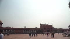 Delhi Jama Masjid Inside Panorama 4K Stock Footage