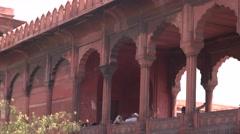 Delhi Jama Masjid External Panorama 4K Stock Footage