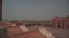 Delhi Panorama on Jama Masjid 4K Stock Footage