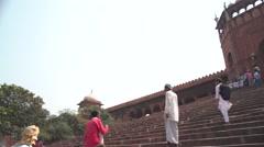 Delhi Jama Masjid Entrance Panorama 4K Stock Footage