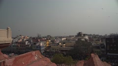 Panorama View on Delhi from Jama Masjid 4K Stock Footage