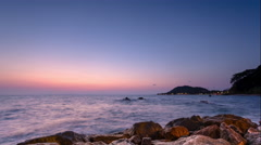 4K Timelapse Sunset, Sunrise on Ocean Beach, Sea View . - stock footage
