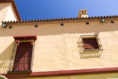 Classic Andalucian Spanish house Stock Photos