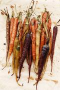 Baked carrots - stock photo