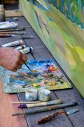 Artist paint brush Stock Photos