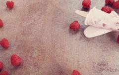 Yogurt popsicle - stock photo