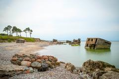 View on abandoned ussr Northern fotress, Liepaja - stock photo