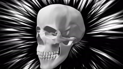 Seamless animation of skeletons. - stock footage