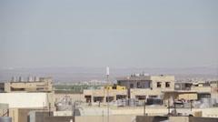 Iraqi Kurdistan Erbil rooftops and sky Stock Footage