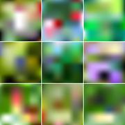 Set of Abstract Creative concept vector multicolored blurred background. For  - stock illustration
